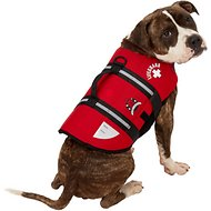 Paws Aboard Neoprene Dog Life Jacket, Medium, Red