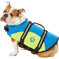 Paws Aboard Blue & Yellow Neoprene Dog Life Jacket, Medium