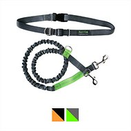 Mighty Paw Hands Free Bungee Dog Leash, 4-feet, Grey/Green
