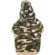 Casual Canine Camo Dog Hoodie, Medium, Green