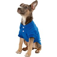 Zack & Zoey Polo Dog Shirt, Small, Blue