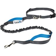 Tuff Mutt Hands-Free Bungee Leash, Gray & Blue