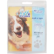 Soft Claws Nail Caps for Dogs, 40 Count, XX-Large, Clear