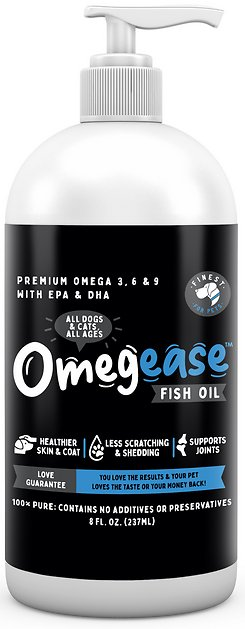 finest for pets omegease omega rich fish oil dog cat