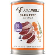 Dogswell Savory Stew Duck Recipe Grain-Free Canned Dog Food, 13-oz, case of 12