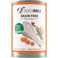 Dogswell Turkey Savory Stew Grain-Free Canned Dog Food, 13-oz, case of 12