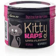 Huma.ne Kitty Kaps Digestive Sprinkle Caps, 60-count