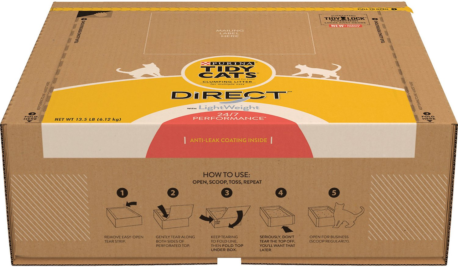 Tidy Cats Direct Disposable Litter Box With Lightweight