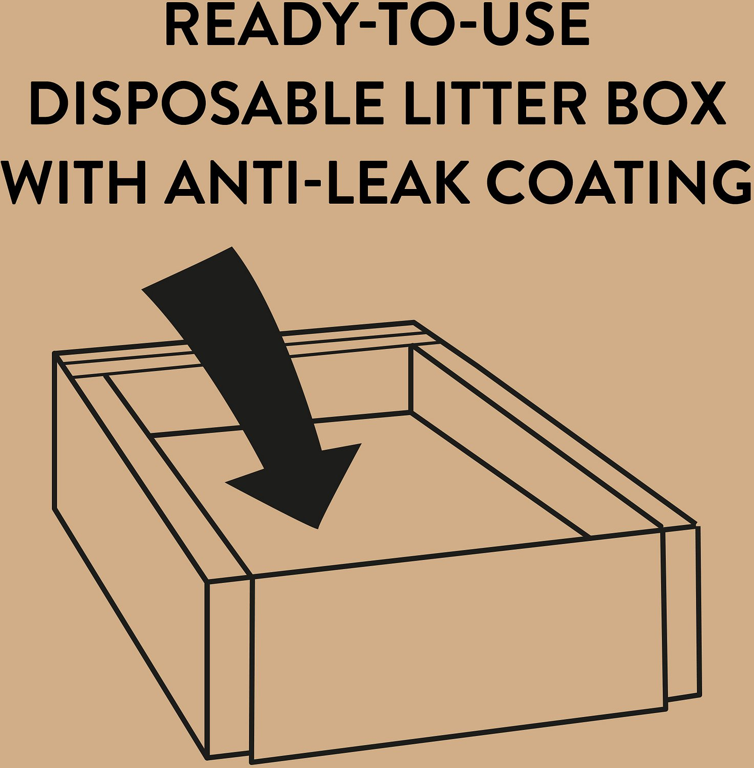 tidy cats direct disposable litter box with lightweight clumping multiple cat litter 13 5 lb. Black Bedroom Furniture Sets. Home Design Ideas