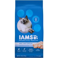 Iams Proactive Health Adult Cat Oral Care Chicken Dry Cat Food, 3.5-lb bag