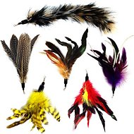 Pet Fit For Life 6 Piece Replacement Feather Pack for Wand Cat Toy