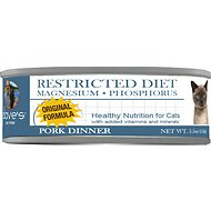 Dave's Pet Food Restricted Diet Magnesium & Phosphorus Original Pork Dinner Canned Cat Food, 5.5-oz, case of 24