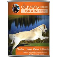 Dave's Pet Food Grain-Free Chicken, Sweet Potato & Quinoa Recipe Canned Dog Food, 13-oz, case of 12