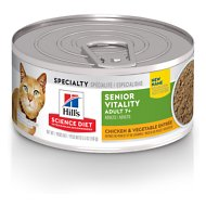 Hill's Science Diet Adult 7+ Youthful Vitality Chicken & Vegetable Entrée Canned Cat Food, 5.5-oz, case of 24