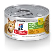 Hill's Science Diet Adult 7+ Youthful Vitality Chicken & Vegetable Stew Canned Cat Food, 2.9-oz, case of 24