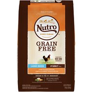 Nutro Grain-Free Large Breed Adult Farm-Raised Chicken, Lentils & Sweet Potato Dry Dog Food, 24-lb bag