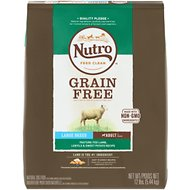 Nutro Grain-Free Large Breed Adult Pasture-Fed Lamb, Lentils & Sweet Potato Dry Dog Food, 12-lb bag