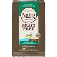Nutro Grain-Free Large Breed Adult Pasture-Fed Lamb, Lentils & Sweet Potato Dry Dog Food, 24-lb bag