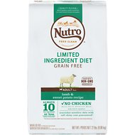 Nutro Limited Ingredient Diet Grain-Free Adult Lamb & Sweet Potato Recipe Dog Food, 22-lb bag