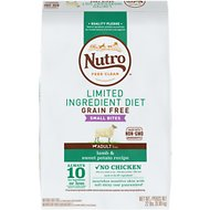 Nutro Limited Ingredient Diet Grain-Free Small Bites Adult Lamb & Sweet Potato Recipe Dry Dog Food, 22-lb bag