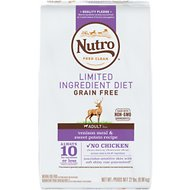 Nutro Limited Ingredient Diet Grain-Free Adult Venison Meal & Sweet Potato Recipe Dry Dog Food, 22-lb bag