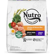 Nutro Wholesome Essentials  Small Bites Adult Farm-Raised Chicken, Brown Rice & Sweet Potato Recipe Dry Dog Food, 30-lb bag