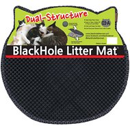 Moonshuttle Headshaped Blackhole Litter Mat, Dark Gray
