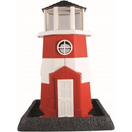 North States Village Collection Lighthouse Bird Feeder, Red