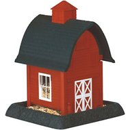 North States Village Collection Large Bird Feeder, Red Barn