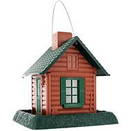 North States Village Collection Small Bird Feeder, Log Cabin