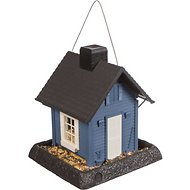 North States Village Collection Small Bird Feeder, Blue Cottage