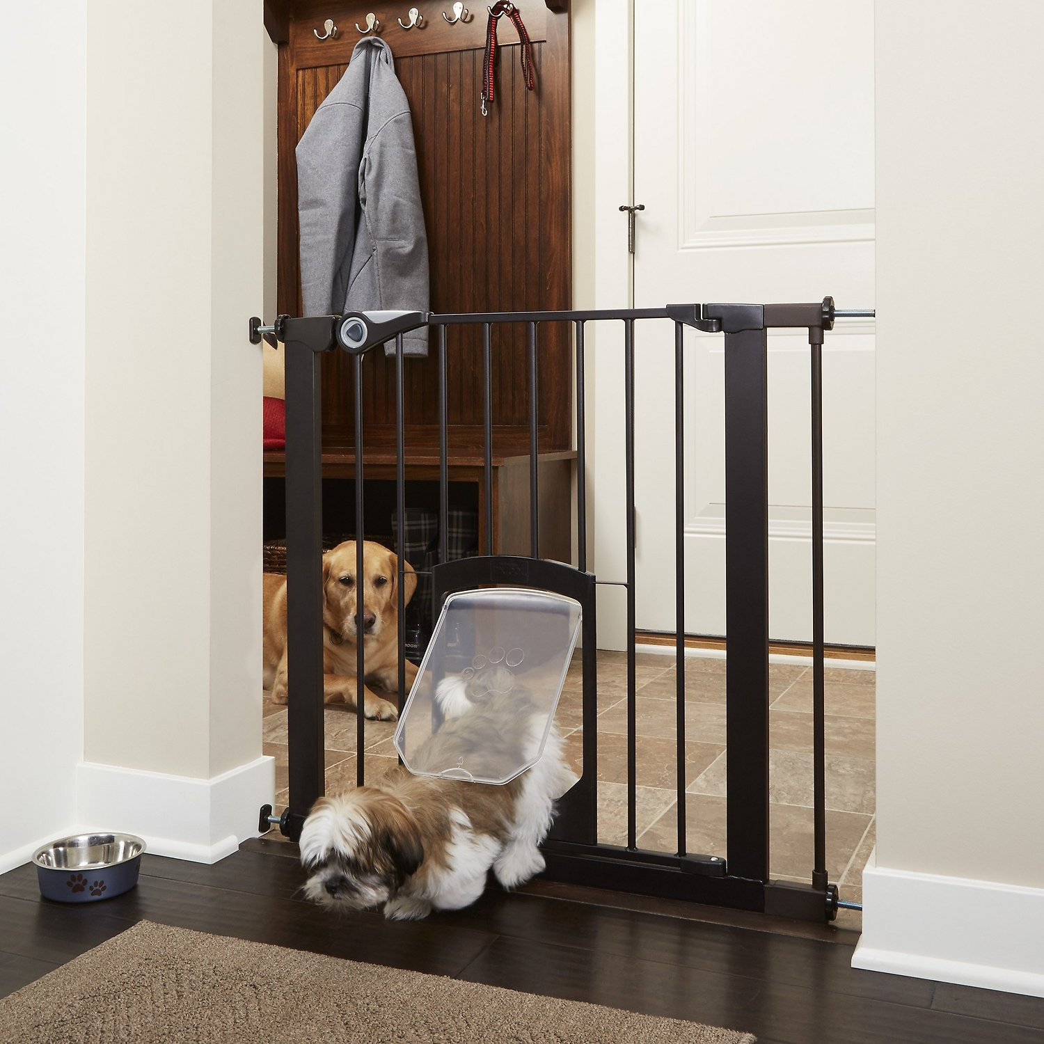Mypet Petgate Passage Gate With Small Pet Door Bronze 30