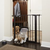 MyPet Petgate Passage Gate with Small Pet Door, 30-inch, Bronze