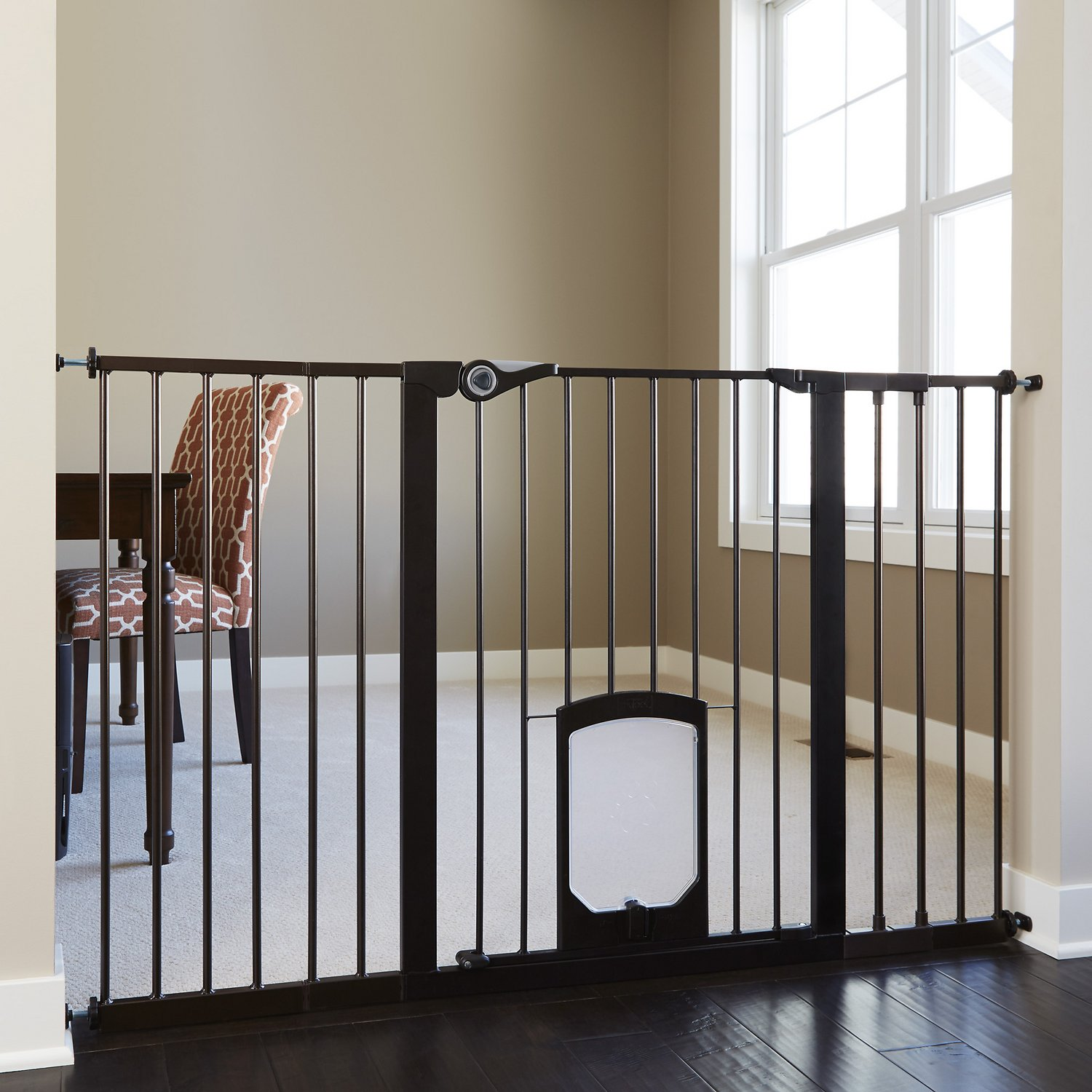Mypet Tall Petgate Passage Gate With Small Pet Door 36 In