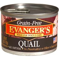 Evanger's Grain-Free Quail Canned Dog & Cat Food, 6-oz, case of 24