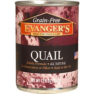 Evanger's Grain-Free Quail Canned Dog & Cat Food, 12.8-oz, case of 12