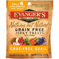 Evanger's Nothing But Natural Quail with Fruits & Vegetables Grain-Free Jerky Dog Treats, 4.5-oz bag