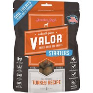 Grandma Lucy's Valor Starters Grain-Free/Freeze-Dried Turkey Recipe Dog Treats, 6-oz bag
