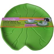 Cats Rule Lilypad Splash & Crumb Catcher Mat