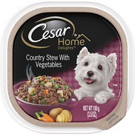Cesar Home Delights Country Stew with Vegetables Dog Food Trays, 3.5-oz, case of 24