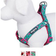 Blueberry Pet Spring Prints Dog Harness, Small/Medium, Pink Flamingo on Light Emerald