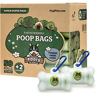 Pogi's Pet Supplies Poop Bags with 2 Dispensers, 750 count