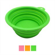 Alfie Pet Collapsible Silicone Travel Bowl, Green