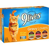9 Lives Gravy Favorites Variety Pack Canned Cat Food, 5.5-oz, case of 12