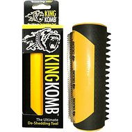 King Kanine King Komb Ultimate Deshedding Brush for Dogs, Cats & Horses, Yellow