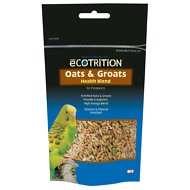 eCOTRITION Oats Groats Nutritious Snack Parakeet Treat, 8-oz bag