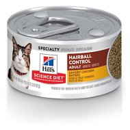Hill's Science Diet Adult Hairball Control Savory Chicken Entree Canned Cat Food, 2.9-oz, case of 24