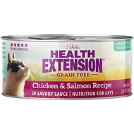 Health Extension Grain-Free Chicken & Salmon Recipe Canned Cat Food, 3-oz, case of 24