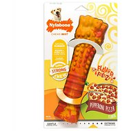 Nylabone RubberChew Flavor Frenzy Pepperoni Pizza Flavored Bone Dog Toy, Giant