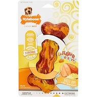 Nylabone RubberChew Flavor Frenzy Baked Ham & Cheesy Smashed Potato Flavored Dog Chew Toy, Wolf